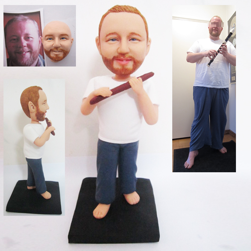 Flute player personalised figure