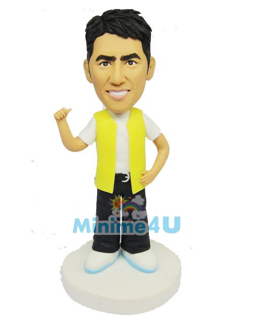 handsome man custom figurine