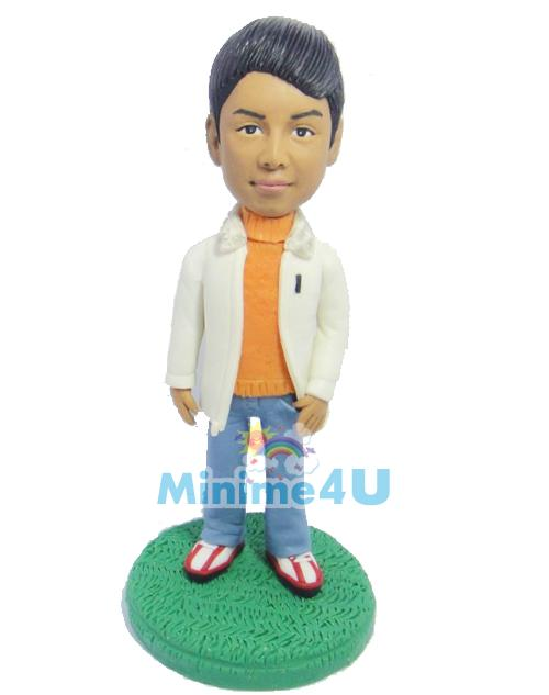 Smart boy causal style mini me doll
