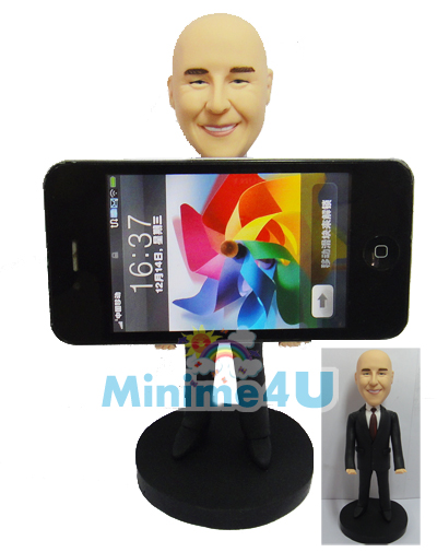 iPhone handler figurine