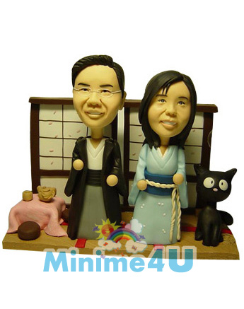 Japanese style scene mini me doll