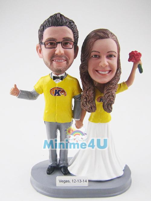 baseball fan wedding topper