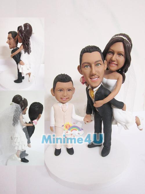 wedding cake topper family set