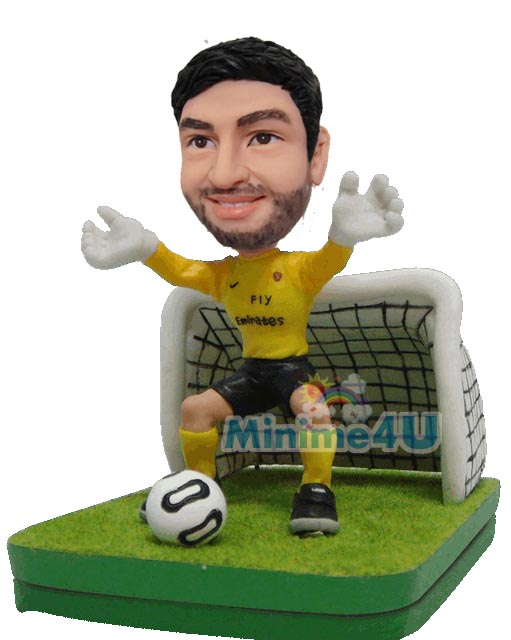 Goal keeper figurine template