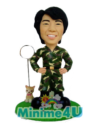 Soldier style mini me doll