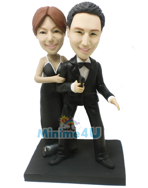007 bond agent wedding cake topper