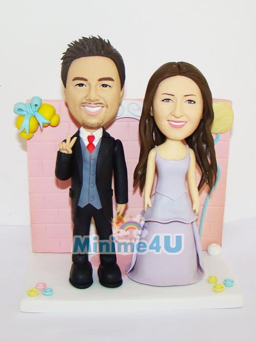 lovely wedding cake topper