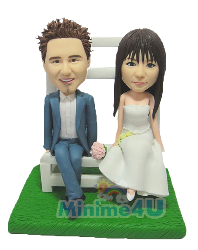 Wedding cake topper for young couple